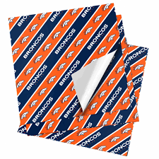 buy wrapping paper nfl folded gift wrapping paper denver broncos