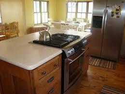 quarter sawn oak kitchen island with center stove rechelle unplugged