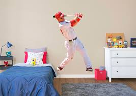 life size mike trout fathead wall decal shop la angels fathead decor mike trout fathead wall decal