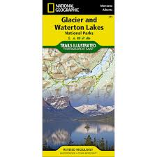 Montana Topographic Map by 215 Glacier And Waterton Lakes National Parks Trail Map National