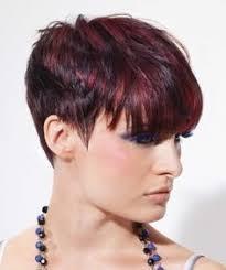 highlights in very short hair cute red peekaboo highlights on black hair cute hairstyles for