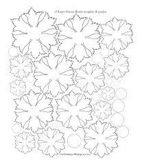 paper paper flower petal template printable