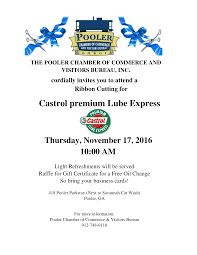 ribbon cutting for castrol premium lube express pooler chamber