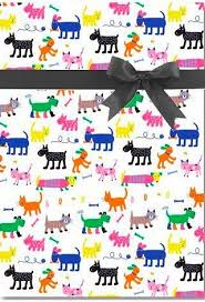 cat wrapping paper cat dog bone all occasion gift wrap wrapping