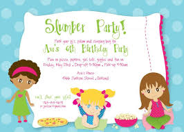 slumber party invitation invitation sample pinterest slumber