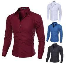 new mens luxury stylish casual long sleeve dress shirts men u0027s slim
