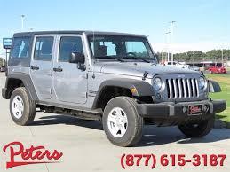 fiat jeep wrangler new 2018 jeep wrangler jk unlimited sport convertible in longview