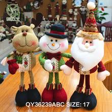 Cheap Christmas Decorations In Bulk by Standing Scalable Snowman Santa And Deer Christmas Decorations
