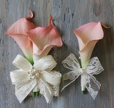 calla corsage wrist corsage calla corsage boutonniere pink bridal