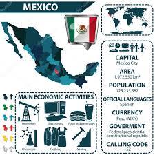 Mexican Map Map Of Mexico U2014 Stock Vector Sateda 96226934