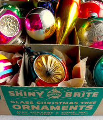 1940s 1950s vintage ornaments shiny brite box flickr