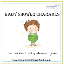 personalised baby gifts baby shower charades u2013 free ideas for