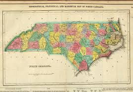 Map Of North Carolina And Virginia by 1822 County Map Of North Carolina