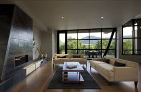 modern mansion living room with modern mountain house designs from