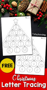 christmas letter tracing sheets totschooling toddler
