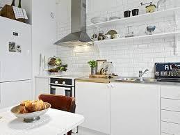 cuisine carrelage metro decoration carrelage metro blanc credence cuisine armoires