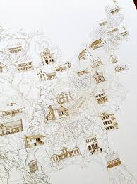 East Coast States Map by Turn Of The Centuries State Architecture Map Drawing