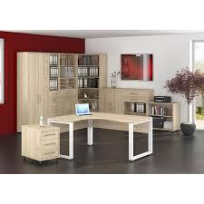 Eckschreibtisch Buche Vito Bürokombination Vito Edelbuche Nachbildung Porta