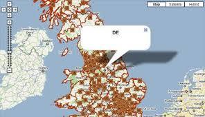 earth map uk maps mania uk postcodes on maps