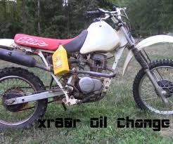 xr80 oil change 6 steps