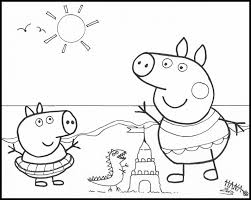 peppa pig printables coloring pages coloring home