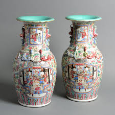 canton porcelain a 19th century pair of canton porcelain vases timothy langston