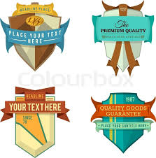 ribbon color set of various vector design retro ribbon color logo labels and