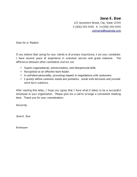 new samples of cover letters for customer service 59 for cover