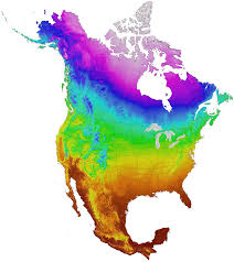 North American Time Zones Map by Climatena Current Historical And Projected Climate Data For