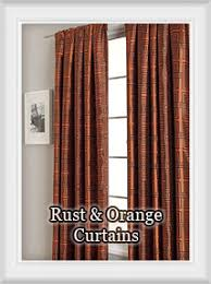 Orange And Brown Curtains Rust Pumpkin Copper Bronze Terracotta Bright Burnt