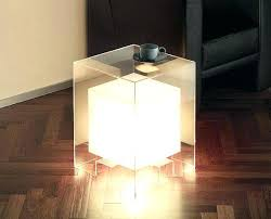 side table light up side table light oak and glass side tables