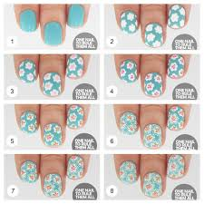 flower nails diy black and white flower nail art design tutorial