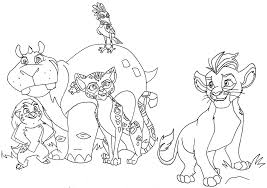 lion guard coloring pages getcoloringpages