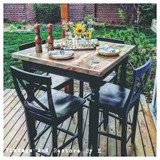 Patio High Dining Set Patio High Dining Set Square 5 Patio High Dining Set With