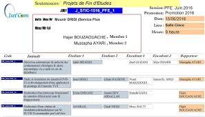 pointage bureau d emploi kef soutenances projets de fin d etudes pdf