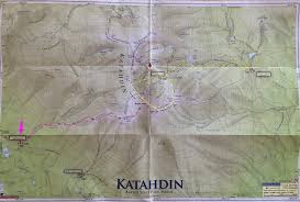 Baxter State Park Map by Hawaii Adventures Mt Katahdin Hiking