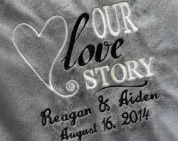 personalized wedding blankets personalized throws etsy
