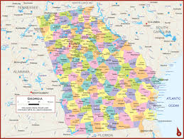 Ga Zip Code Map Georgia Wall Map Georgia Map
