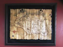 tes skyrim collector u0027s map poster hand made wall