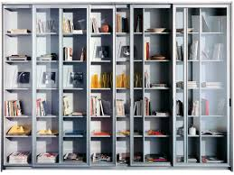 contemporary bookcase glass front pantos chef by antonia astori