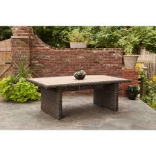 Rectangle Patio Dining Table Brown Northshore Rectangular Patio Dining Table Stock