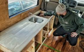 how we made custom kitchen cabinets for our diy van build gnomad
