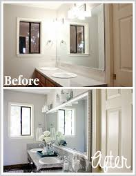 silver framed mirror bathroom bathroom mirror makeover before and after ask anna best of