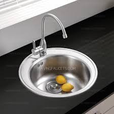 Stainless Steel Round Kitchen SinksFaucet Included - Round sink kitchen