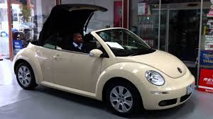 vw beetle convertible roof operation youtube