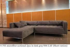 Gray Microfiber Sectional Sofa by Grey Microfiber Sectional Sofa Magiel Info
