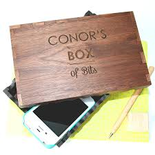 Customized Keepsake Box Personalised Solid Walnut Wood Engraved Keepsake Box By Wood Paper