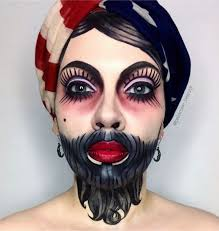 Scary Gypsy Halloween Costume 25 Circus Makeup Ideas Harlequin Makeup