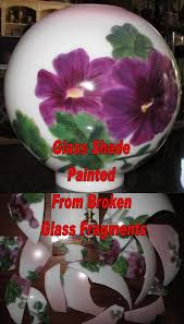 antique glass l repair replacement glass l shades hand painting to match your base