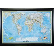 World Map Pins by Wayfarer Classic World Push Pin Travel Map Craig Frames